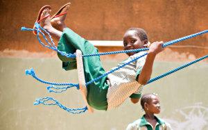 Area giochi per bambini in Uganda