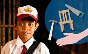 Corsi di falegnameria in Indonesia con i regali solidali
