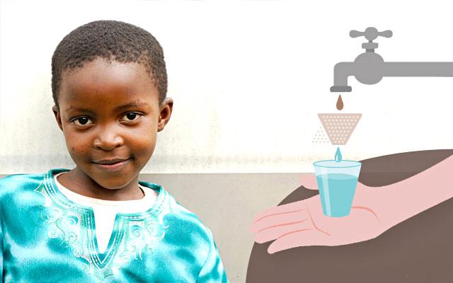 Filtri depurazione acqua in Ruanda con i regali solidali
