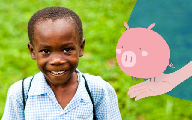 Maiale per i bambini del Ruanda