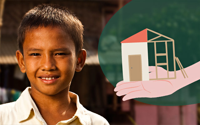 Ricostruzione case disastri naturali - Regali solidali di Compassion Italia