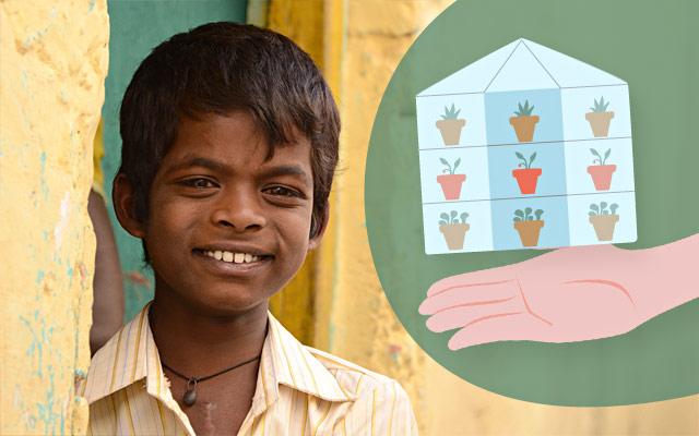Serre agricole in India con i regali solidali di Compassion
