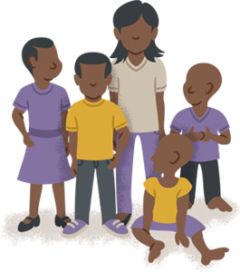 Bambini per famiglia in Etiopia