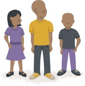 Bambini per famiglia nelle Filippine