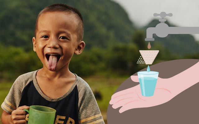 Filtri per depurazione acqua in Tailandia
